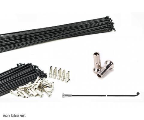 Žice žbice spice sa niplama za bicikle (standardne crne)