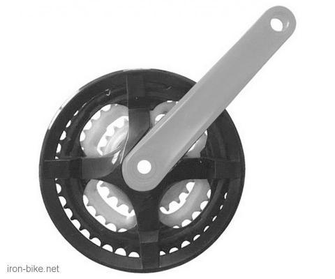 srednji pogon true wheel crni sa sivom polugom 24/34/42 170mm - 3600041