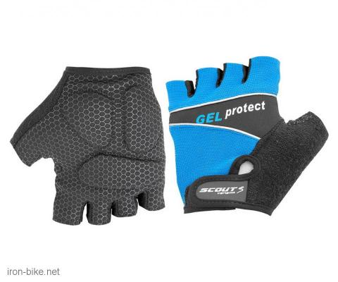 rukavice za bicikl gel protect plavo crne xs - 3722107