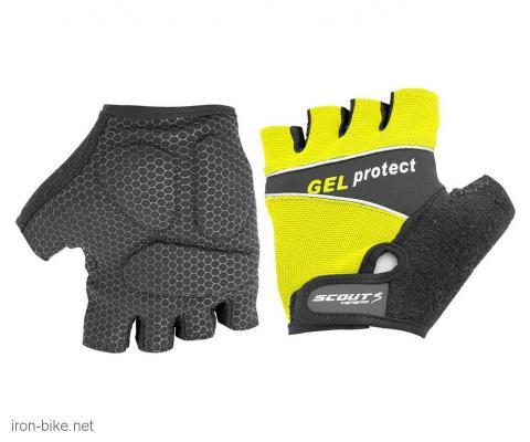 rukavice za bicikl gel protect žuto crne  xl - 3722006