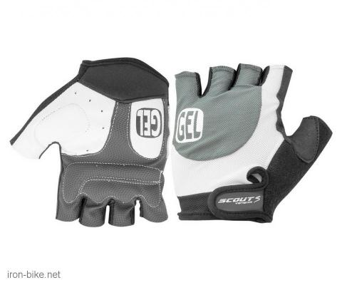 rukavice za bicikl gel protect sivo crne l - 3722000