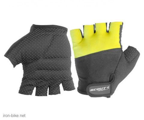 rukavice za bicikl crno žute anti slip silikon l - 3722522