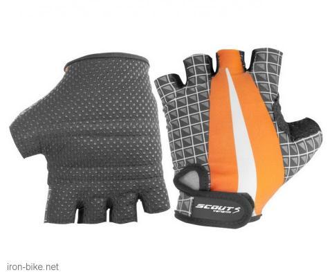 rukavice za bicikl likra narandžasto sive s - 3722106