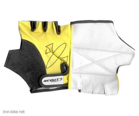 rukavice za bicikl likra crno žute l - 3722100