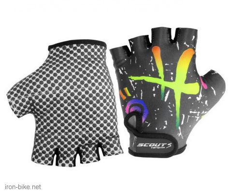 rukavice za bicikl likra crno ljubičaste  l - 3722102