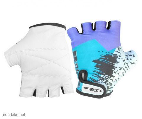 rukavice za bicikl likra bike plavo bele xl - 3722103