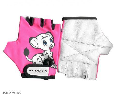 rukavice za bicikl dečija likra roza doggy 5 - 3722201