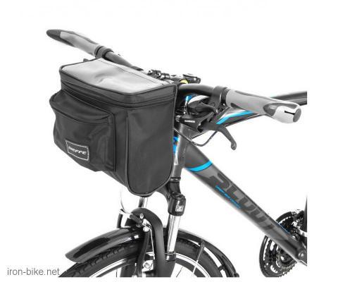 torba na volan crna na čičak vodootporna 220x100x200 mm - 3721010