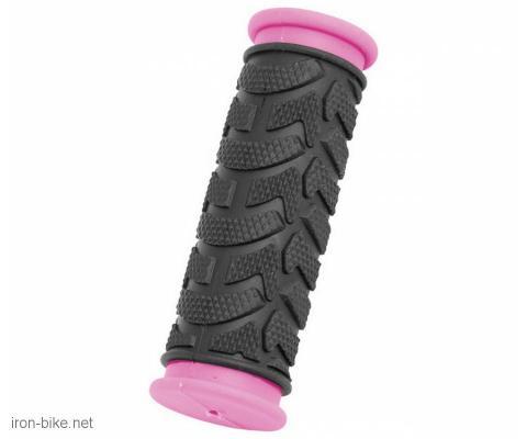 ručke volana mega crno pink kraće 92mm - 3841010