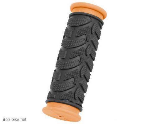 ručke volana mega crno oranž kraće 92mm - 3841005