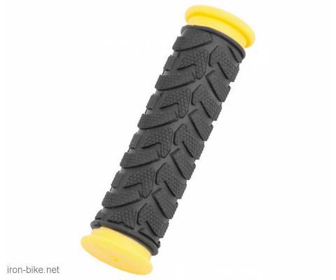 ručke volana mega crno žute duže 125mm - 3841022