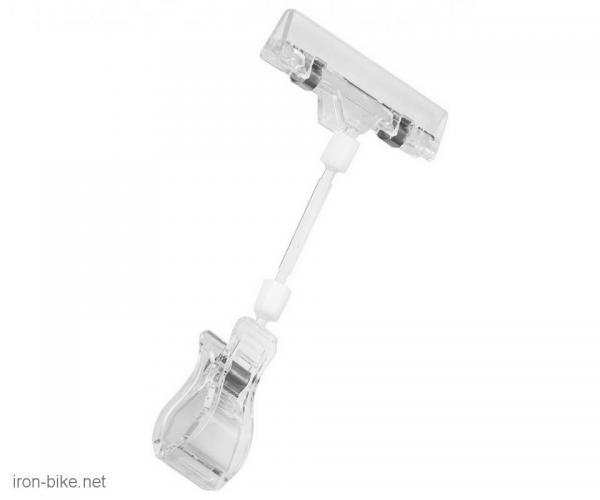 štipaljka prozirna za natpis na bicikl pvc - 3723008
