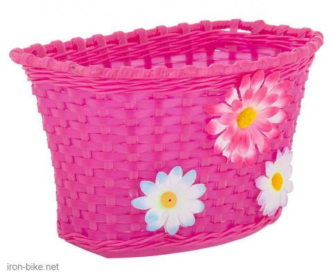 prednja korpica pvc pletena za dečije bicikle ljubičasta - 3197092