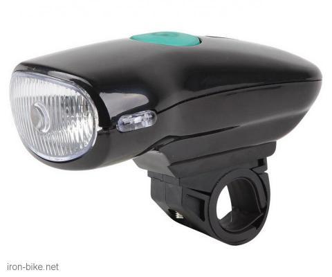 lampa prednja crna elegant 1w led 3 funkcije - 120 lm - 3501117