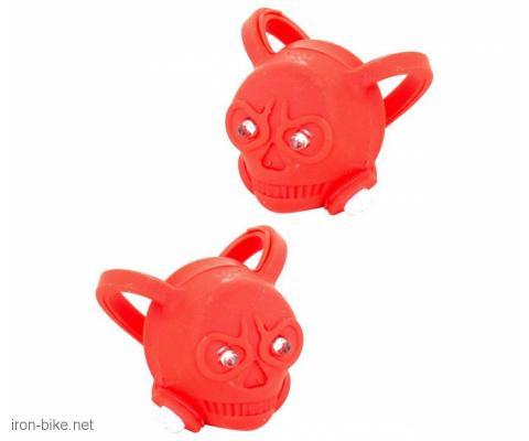 treptači silikonski skull (lobanja) crveni - 3501101