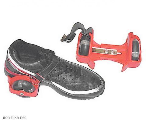 svetleći roler na patiku crveni - 3090014