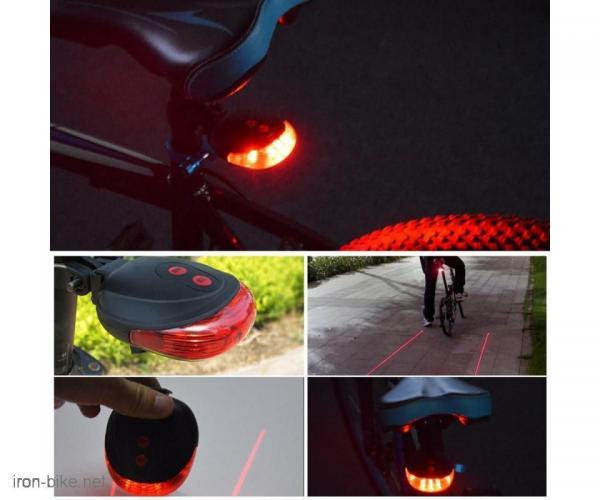 zadnji treptac za bicikl sa laserom