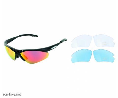 venzo naočare u kutiji 100% uv 2 seta stakala crne - 3720098