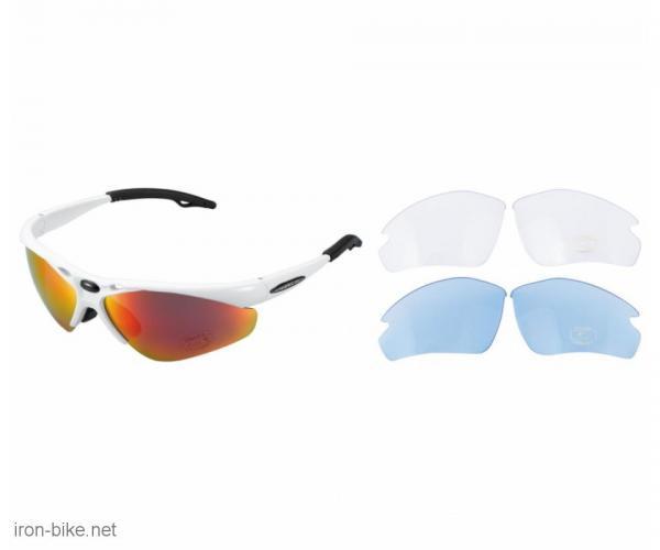 venzo naočare u kutiji 100% uv 2 seta stakala bele - 3720099