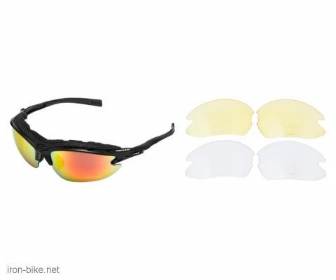 venzo naočare u kutiji 100% uv 2 seta stakala crne - 3720107