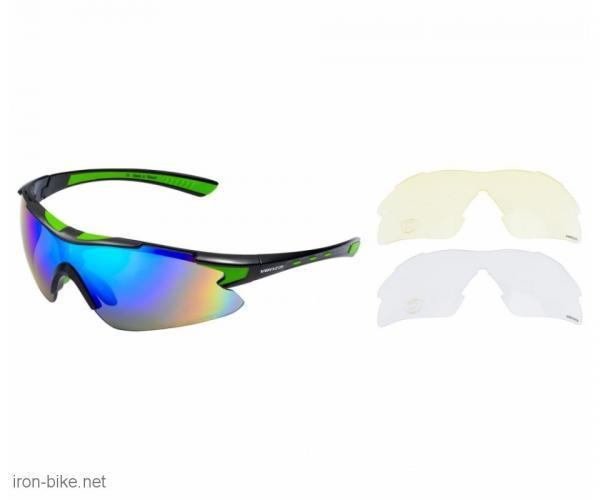 venzo naočare u kutiji 100% uv 2 seta stakala zelene - 3720109