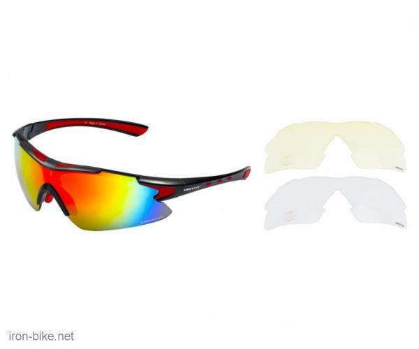 venzo naočare u kutiji 100% uv 2 seta stakala crvene - 3720110