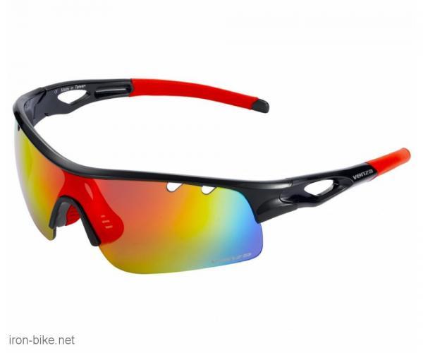 venzo naočare u kutiji 100% uv zaštita crno crvene - 3720112