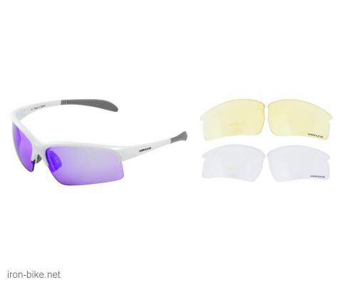 venzo naočare u kutiji 100% uv 2 para stakala belo ljubičasto - 3720114