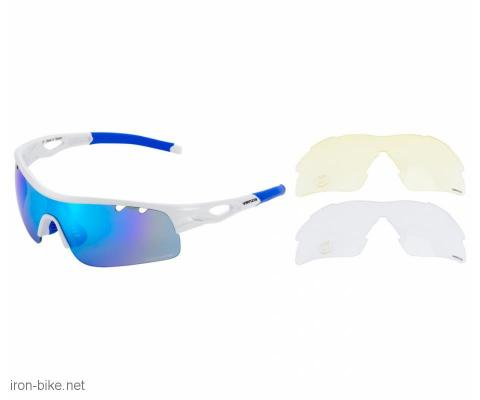 venzo naočare u kutiji 100% uv 2 para stakala plave - 3720115