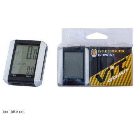 brzinomer VITCOMP crno sivi 15 funkcija - 3123001